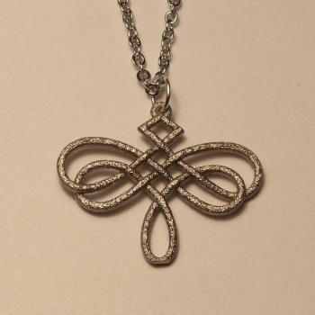 Dragonfly Celtic Knot Pendant Nickel