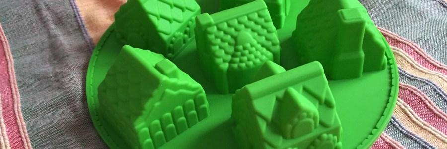 Forma de bolinhos em forma de casinhas
