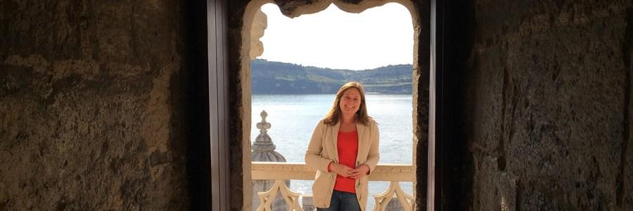 Minha modelo de sempre (minha mãe) na torre de Lisboa