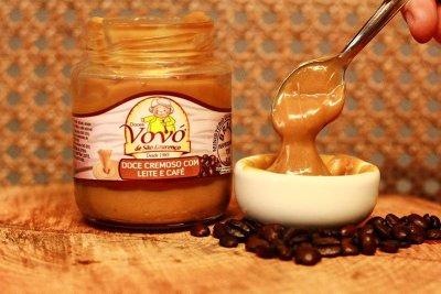 café com doce de leite para sobremesa