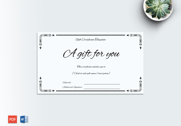 Business gift certificate word doc formats business gift certificate template featured yadclub Choice Image