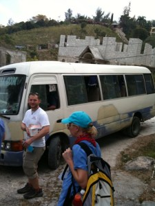 Our bus in Port Au Prince copyright 2010