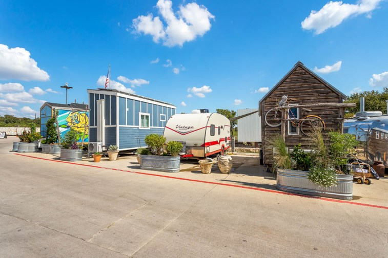 As one of the country's largest tiny house bed-and-breakfast sites, the Community Inn offers eclectic and affordable options for guests, and can be rented through Airbnb.