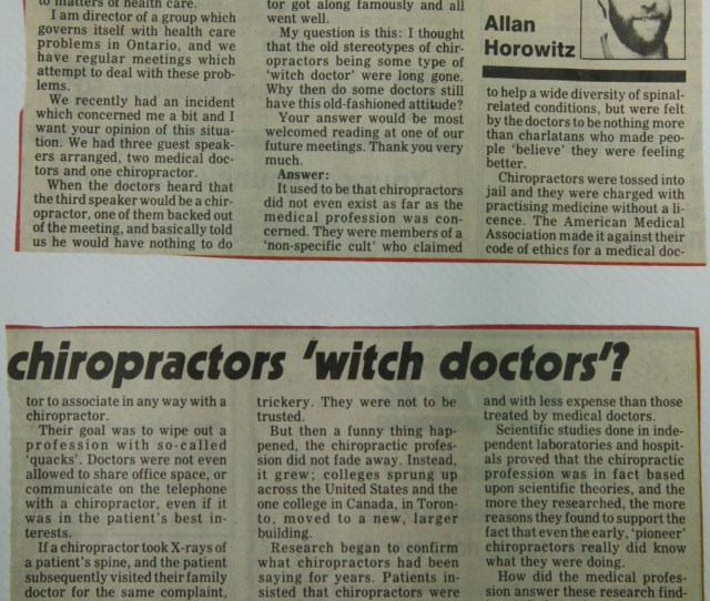 Why Do Some Mds Consider Chiropractors Witch Doctors