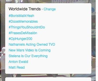 #OpHunger200 trending on February 10