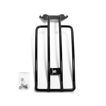 luggage rack black harley fat boy hertiage 2005up breakout 2012up