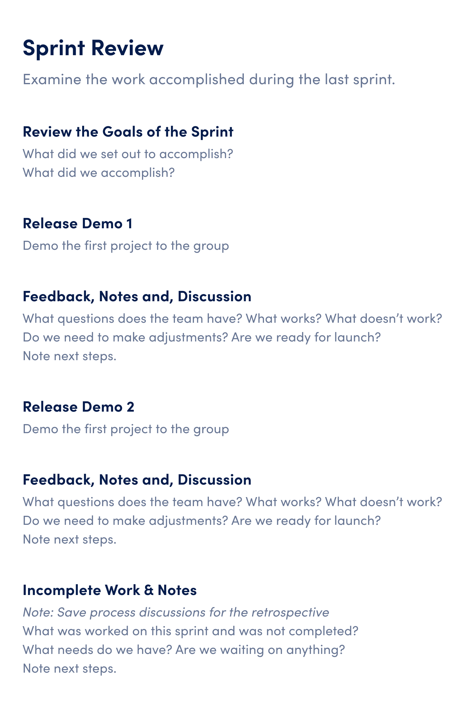 agile sprint review meeting agenda template