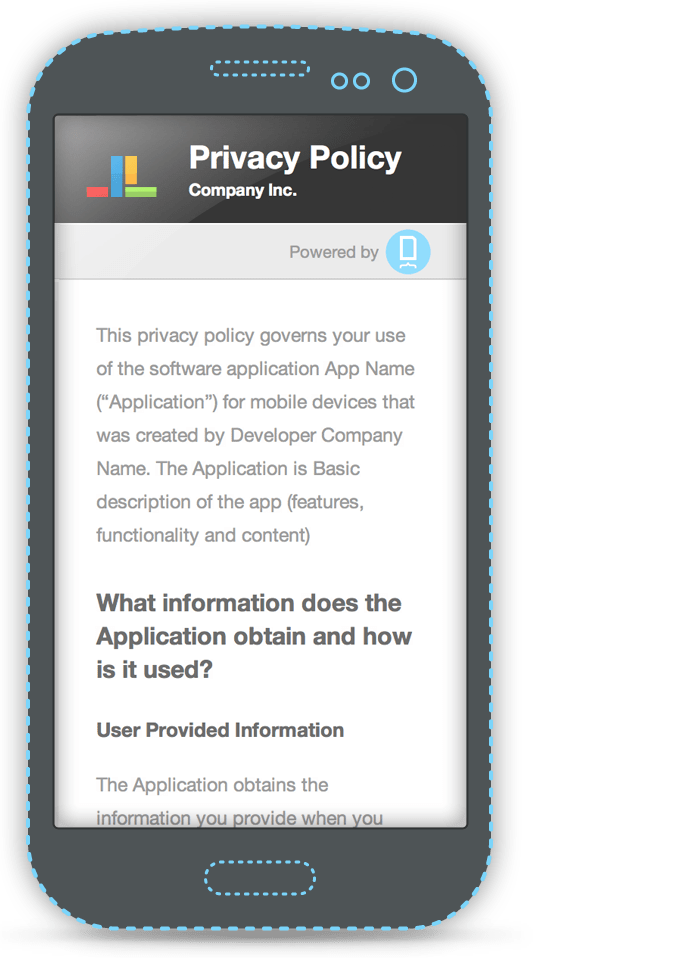 Mobile Privacy Policy