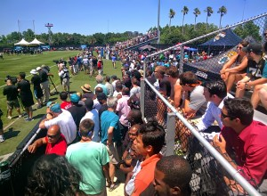 More than 2000 fans watching the Friday Rookie Minicamp