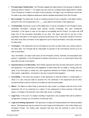 This agreement makes few assumptions about the arrangements giving rise to the commission payment obligation. Commission Contract Agreement Sample Master Of Template Document