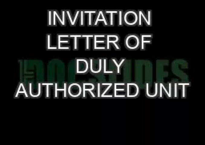 Invitation letter of duly authorized unit pdf newsinvitation invitation letter of duly authorized unit pdf doent docslides stopboris Image collections