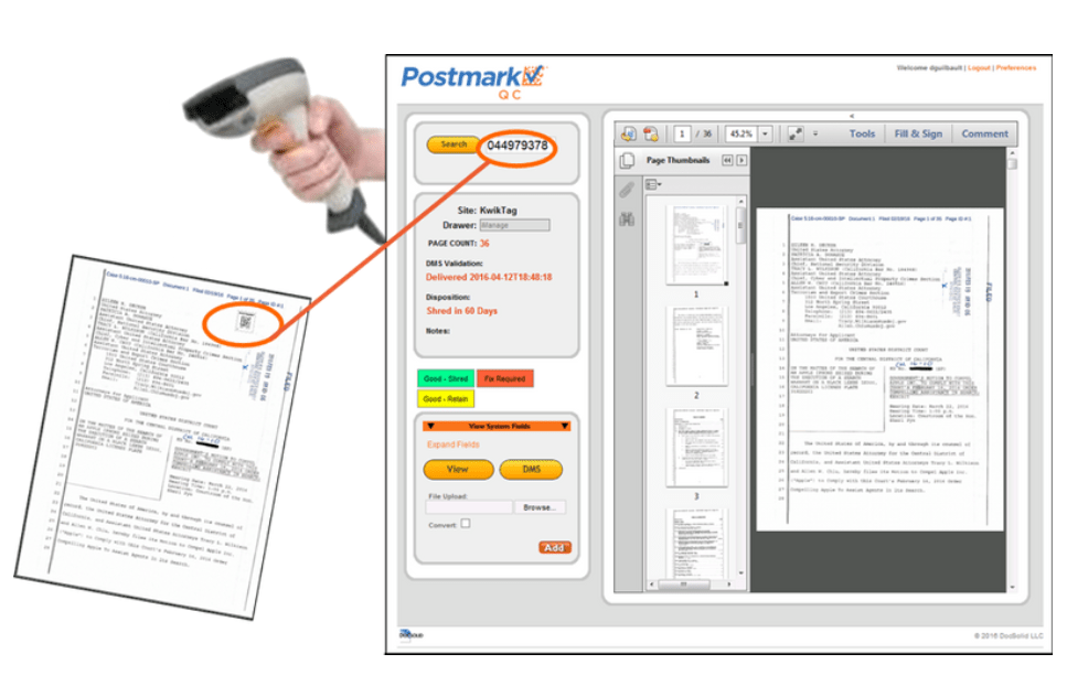 Postmark QC by DocSolid is DMS quality control software