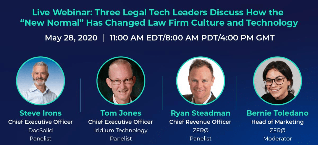 Tech Leaders Webinar with DocSolid, Iridium Technologies and ZERØ