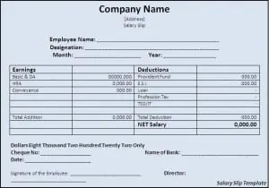 Nice Salary Slip Template Intended Basic Payslip Template Excel Download