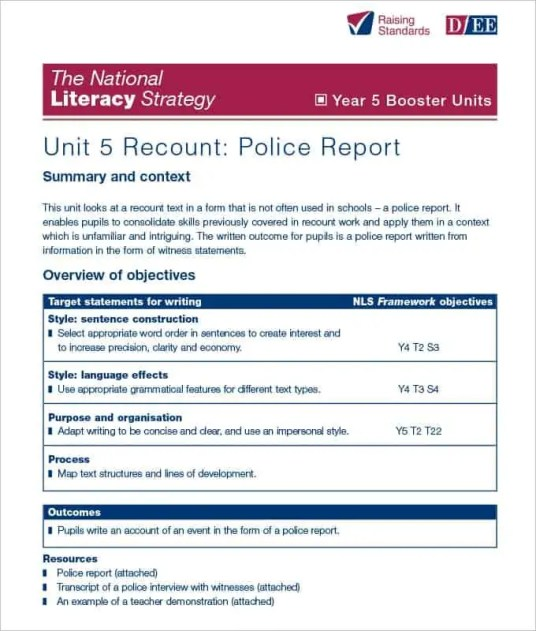 Vermont Police Report Template] 16 Accident Report Template Free