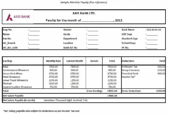 Top  Formats Of Salary Slip Templates  Word Templates Excel Templates