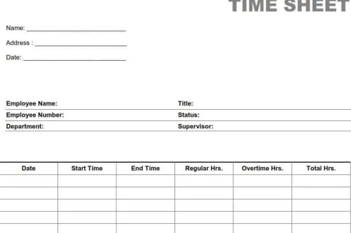 time sheet template 19641