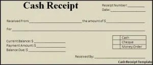 Top 5 Free Cash Receipt Templates - Word Templates, Excel Templates
