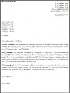 download free cover letter template