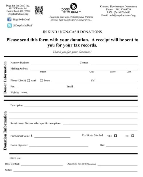 Sample Donation Forms Sample Free Donation Form Printable Medical