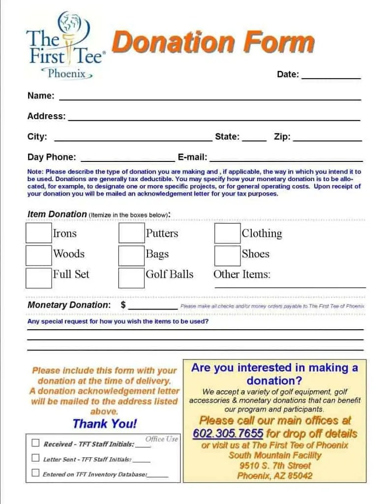 Donation Form Template 39741  Donation Form Example
