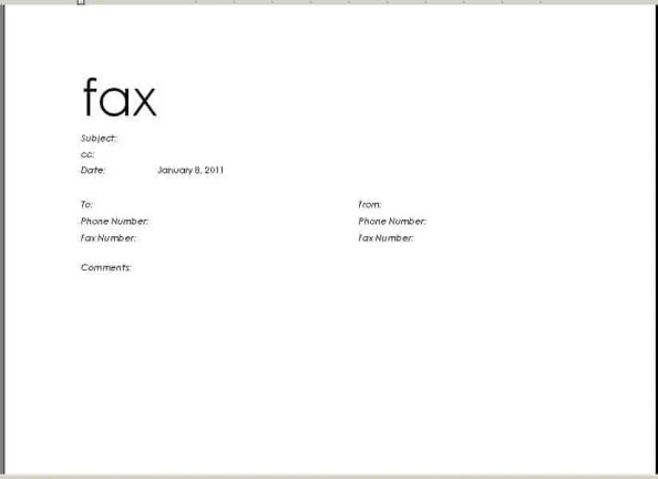 fax cover sheet template 5971