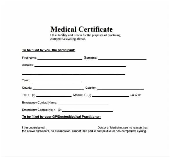 Top 5 Free Medical Certificate Templates - Word Templates, Excel