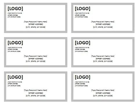 address label template 5874