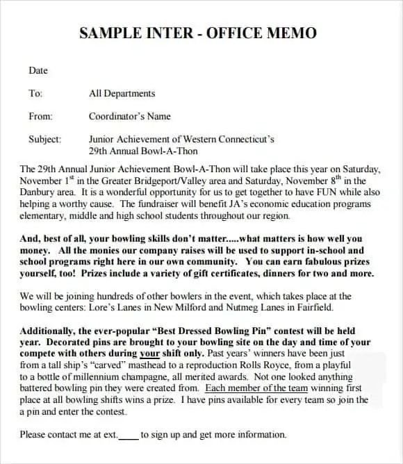 Interoffice Memo Template 4514  Example Of Interoffice Memo