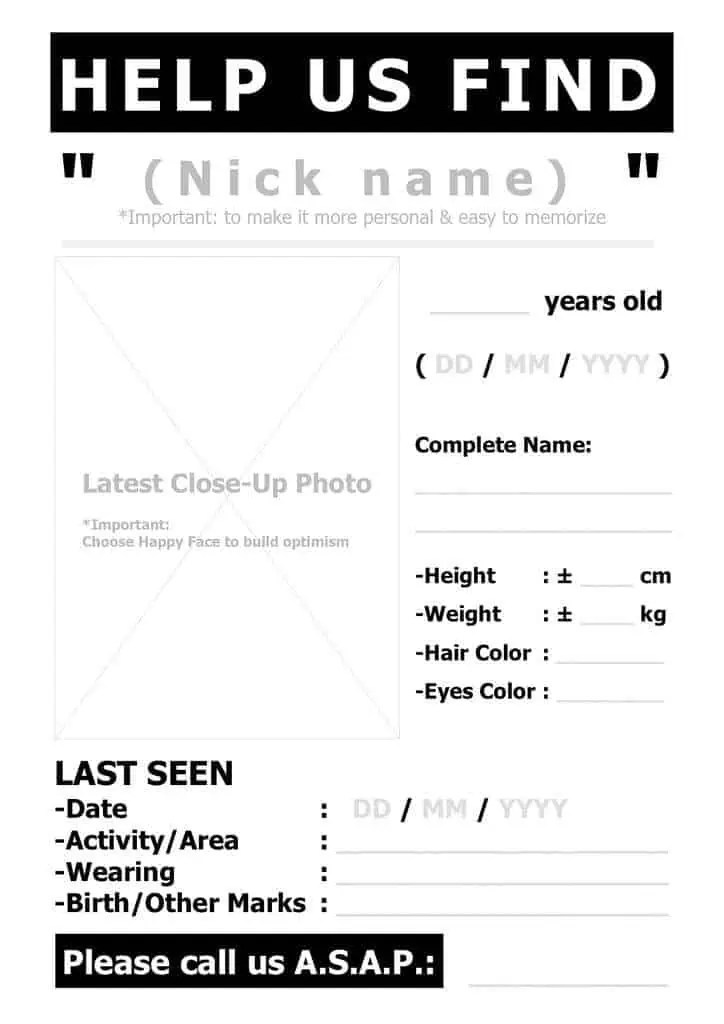 Missing Person Poster Template2541  Make A Missing Person Poster