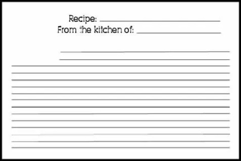 recipe card template 154121