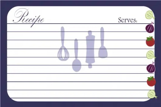 recipe card template 34851