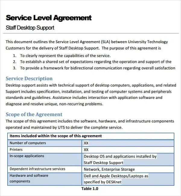 Agreement For Services Template - Apigram.Com