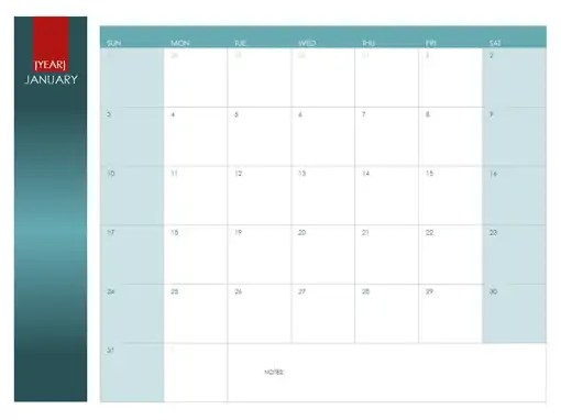 yearly calendar template 4871
