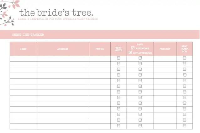 wedding invitation list template 35454