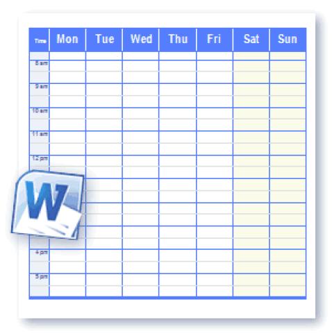 weekly schedule tempalte 4514