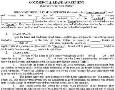 Top 5 resources to get commercial lease agreement templates word commercial lease agreement template 52341 pronofoot35fo Images