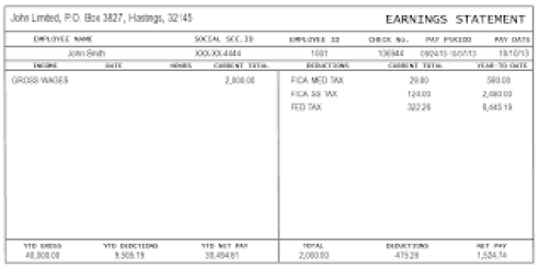 Top 4 Resources To Get Free Pay Stub Templates - Word Templates ...
