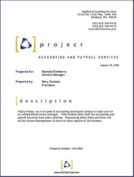 Project Proposal Template 14  Professional Project Proposal