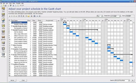 project schedule 1545