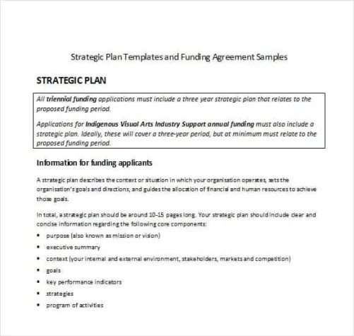strategic plan template 45121