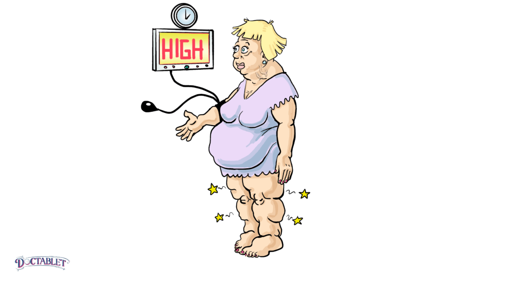 High blood pressure caused by congestive heart failure