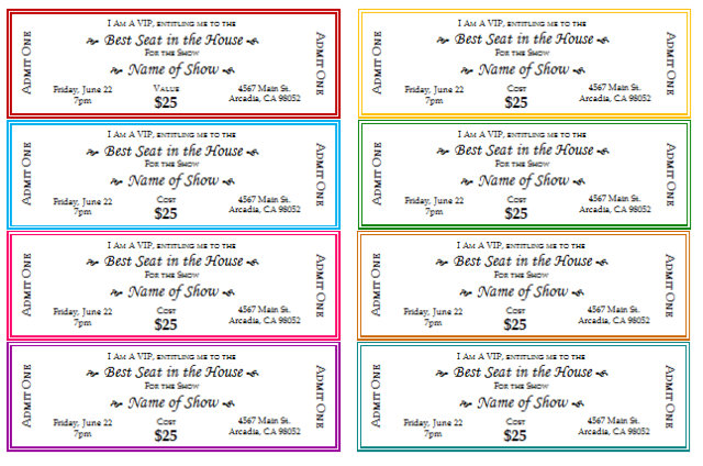 ticket template microsoft word free download