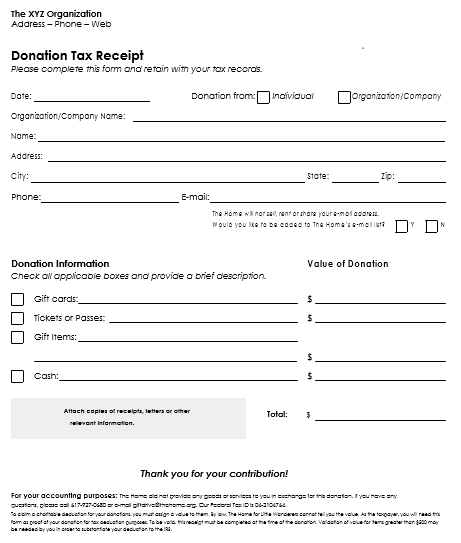 Letter Contribution Template Charitable