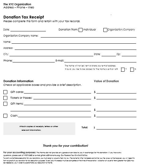 501c3 donation receipt template