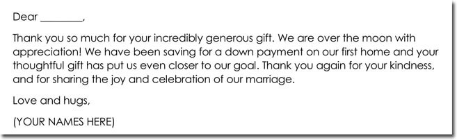Wedding Gift Thank You Note Templates 10 Best Wording Samples