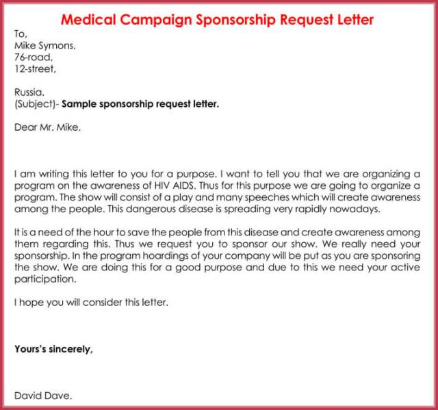 Sponsorship Request Letter 12 Best