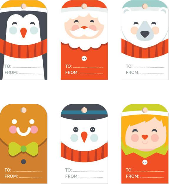 Free Christmas Gift Tag Templates Editable Amp Printable