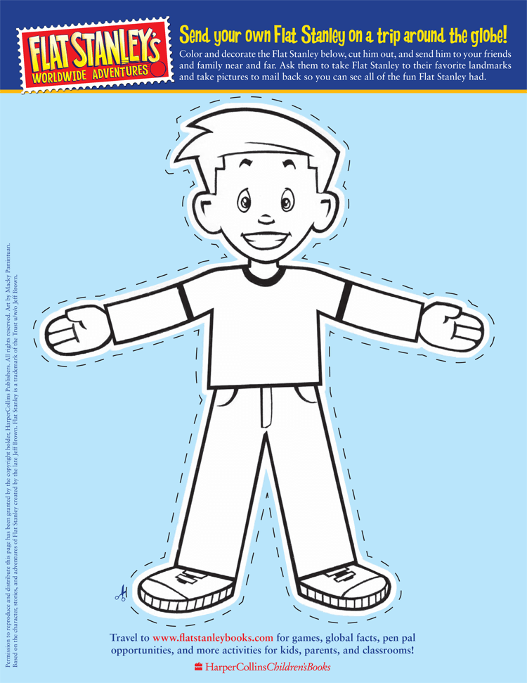 Printable Flat Stanley Templates Letters Word PDF