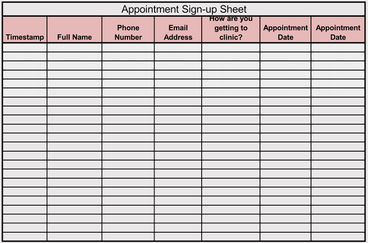 45 Sign Up Sign In Sheet Templates For Excel Word